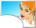 Pop Art Vector Illustration Of A Woman  Face Royalty Free Stock Images - 54532139