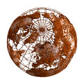 Rust Earth Planet 3D Globe Stock Images - 54537214