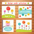 Vector Cards Collection With Cute Buttons. Perfect Royalty Free Stock Photos - 54558628