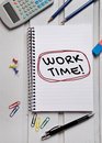 Work Time Word Royalty Free Stock Photography - 54565577