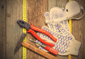 Still Life With Working Tools Stock Images - 54573354