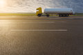 Side View On Tank Truck In Motion Blur On Motorway Stock Photos - 54577473
