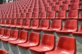 Empty Red Chairs Stock Photos - 5460913