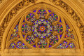 Winow-pane From Gothic Church In Paris Stock Photography - 5464292