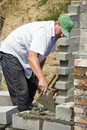 Bricklayer At Work Royalty Free Stock Photography - 5465127