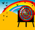 Target Board And Butterflies Royalty Free Stock Photography - 5469967