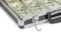 Silver Case With Money Stock Image - 54605161