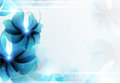 Blue Abstract Floral Card Royalty Free Stock Photo - 54623595