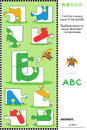 ABC Learning Educational Puzzle With Letter B Royalty Free Stock Photography - 54633037