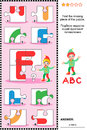 ABC Learning Educational Puzzle With Letter E Stock Image - 54634331
