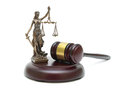 Gavel And The Statue Of Justice On A White Background Royalty Free Stock Photo - 54634775