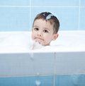 Child Bathes In A Bathroom Royalty Free Stock Photo - 54646785