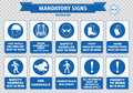 Construction Site Mandatory Signs Royalty Free Stock Photography - 54654277