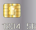 Credit Card Chip Royalty Free Stock Photo - 54666685