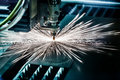 CNC Laser Cutting Of Metal, Modern Industrial Technology. Stock Photography - 54669492