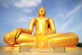 The Big Golden Buddha Statue Of Wat Moung In Angthong Province, Royalty Free Stock Photo - 54683465