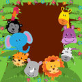 Jungle Or Zoo Themed Animal Background Royalty Free Stock Images - 54686219