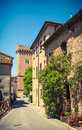 Typical Italian Village Street , Tuscany, Italy. Stock Image - 54711801