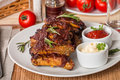 Grilled Pork Ribs In Barbecue Sauce Royalty Free Stock Photos - 54717298