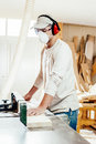 Carpenter In Factory Stock Photography - 54719472