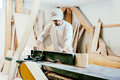 Carpenter In Factory Stock Images - 54719504