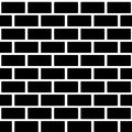 Black Brick Wall Seamless Pattern. Simple Building Royalty Free Stock Photos - 54726458