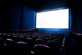 High Contrast Image Of Movie Theater Screen Stock Photo - 54732220