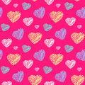 Scribble Hearts Pattern Royalty Free Stock Photo - 54733465