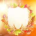 Autumn Background With Colorful Leaves. EPS 10 Royalty Free Stock Photography - 54751937