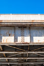 Edge Of Bridge Truss Underside Against Blue Sky. Stock Photography - 54781882