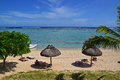 Sunbathing Vacation At A Luxury Resort In Le Morne Beach, Mauritius Stock Image - 54784591