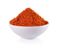 Powdered Dried Red Pepper In White Bowl On White Background Royalty Free Stock Photography - 54789287