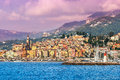 Town Of Menton On French Riviera. Royalty Free Stock Images - 54794259