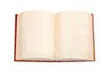 Open Book With Red Cover And Empty Pages Stock Image - 54794801
