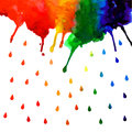 Watercolor Rainbow Gradient Stain With Drops Royalty Free Stock Images - 54798049