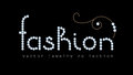 Fashion Banner With Diamond Jewelry Letters Stock Photos - 54801553