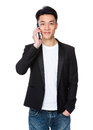 Young Man Talk To Cellphone Stock Photo - 54817230