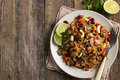 Rice With  Red Bean, Mushrooms And Vegetables Stock Photography - 54827692