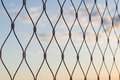 Metal Mesh Wire Fence Closeup Stock Images - 54832394