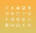 Vector Set Of 20 Icons And Sign In Mono Line Style Stock Image - 54845331