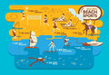 Beach Sports Infographics ,Summer Concept Stock Images - 54848464
