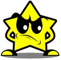 Angry Star Cartoon Isolated Stock Images - 54849144