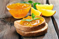 Bread And Orange Jam Royalty Free Stock Image - 54852586