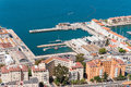 Aerial View Over Port And City Of Gibraltar Royalty Free Stock Images - 54855089