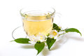 Cup With Green Tea And Green Leaves. Royalty Free Stock Image - 54855756