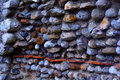 A Detail From The Castle Wall Built From Sea Stones , Baconsthorpe Castle, Norfolk, United Kingdom Royalty Free Stock Photography - 54857127