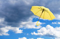 Yellow Umbrella Against  Sky Royalty Free Stock Photo - 54874535