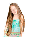 Portrait The Nice Little Girl Royalty Free Stock Photo - 54874645
