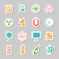 Science Stickers  Icons Set Royalty Free Stock Photography - 54879377
