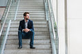 Man On The Stairs Stock Photos - 54888923
